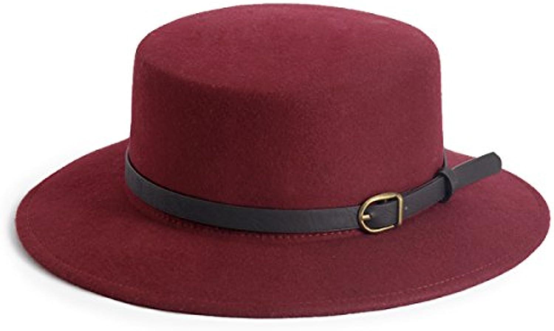... SJDT Cappello Uomini di Lana degli Uomini Cappello E delle Donne  Cappello Piatto Piano Superiore Autunno cce997bc3d6c