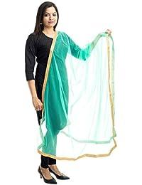 Lodestone Women's Net Dupatta With Lace Work
