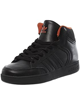 adidas Unisex-Kinder Varial Mid J Skateboardschuhe, Schwarz