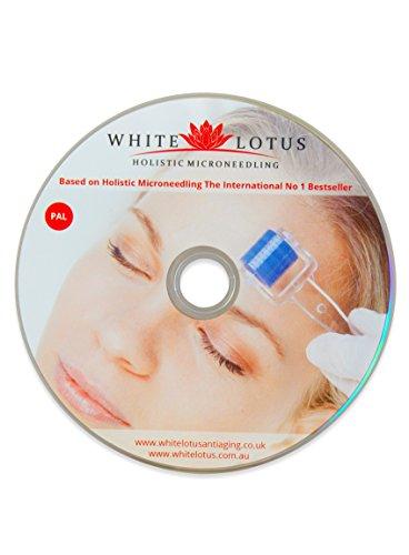 White Lotus ANTI-AGE SET Derma-Roller für empfindliche Haut 1,0 + Grüntee-Öl + Organisches Anti-Aging Serum + Gesichts-Jade-Roller + Gratis Lehr-DVD der Experten für Dermaroller & Haut-Nadelung