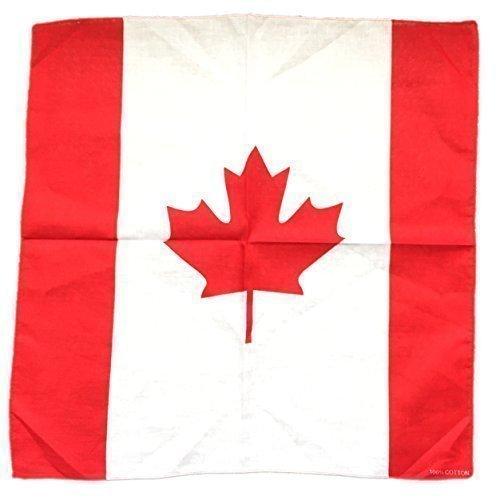 weltflaggen Land Bandana Kopftuch - Kanada-flagge, Kanada-flagge, 52x52cm