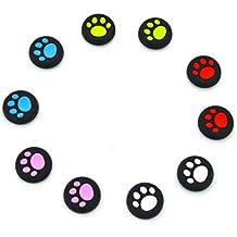 Youji® 5 Pairs / 10 PCS Reemplazo Cat Pad Estilo Silicona Analog Controller Joystick Thumb Stick tapa tapa de agarre para Sony PlayStation 4 Controlador- (Todo color)