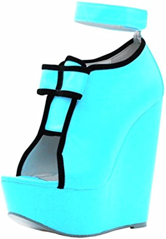 VIVIOO Prom Sandals scarpe,Elegant Fashion,14.5 Cm Of Of Of Wedges Heel scarpe,Peep Toe Pumps,donna scarpe. Dimensione 34-45,...   Eccellente valore    Gentiluomo/Signora Scarpa  2a334e