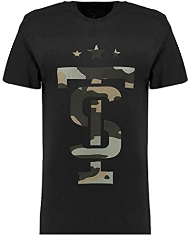 Twisted Soul Mens White Short Sleeve Camo Icon T Shirt Tee Top Casual Crew Neck