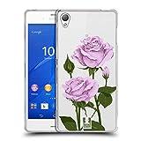Head Case Designs Pfund Silber Rosen Und Wildblumen Soft Gel Hülle für Sony Xperia Z3