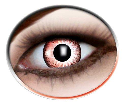 Lenti a contatto colorate anno lenti rossastro marrone, 1paio (2pezzi)