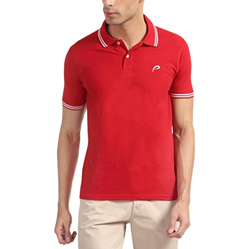 Proline Men Half Sleeve Red Polo T Shirt  available at amazon for Rs.399