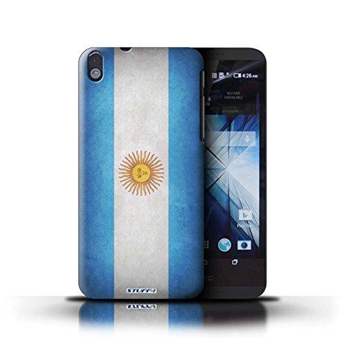 Kobalt® Imprimé Etui / Coque pour HTC Desire 816 / Nigeria conception / Série Drapeau Argentine/argentin