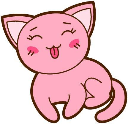 Oedim Pegatina Gato Adorable Rosa sacando la Lengua   15 x 14,5...