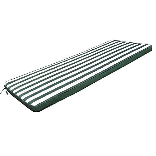 ~ Cuscino lungo 110x45cm verde sfoderabile impermeabile lettino esterno CU805672 lista dei prezzi