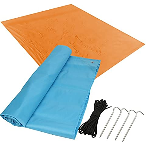 kilofly–2leggero da Picnic, spiaggia, esterni, valore + 4picchetti, 10m corda, Blu & arancione - Oversize Gear Bag