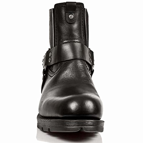 New Rock Motorock Schwarz Stiefel M.MR007-S1 Black