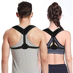 Homga Unterstützung des Rückens Rückenstütze/Haltungskorrektur Geradehalter, Professioneller Körperhaltungs-Korrektor Haltungstrainer, Rückenbandage Ideal Zur Therapie für Rücken Schulterschmerzen