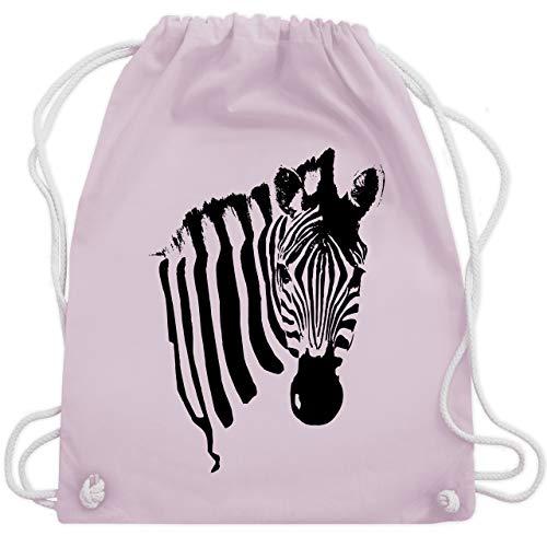 Kostüm Zebra Rosa - Wildnis - Zebra - Unisize - Pastell Rosa - WM110 - Turnbeutel & Gym Bag