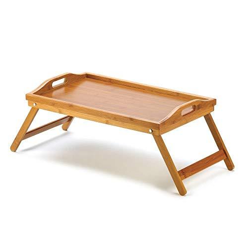 Sdsa8da Esstisch Faltbare tragbare Bambus Laptop Schreibtisch Notebook Schreibtisch einfache esstisch für schlafsofa Laptop Tisch auf dem Bett picknicktische (Farbe : 50x30CM) -