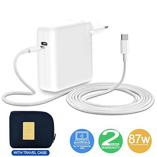 87W USE-C Ladegerät Netzteil Charger für Mac Book Pro 15 inch with 6.5Ft Netzkabel inkl. eine Tragetasche