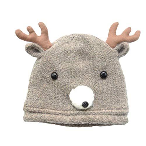 DRAULIC neue Kinder Wolle Elch Hut Baby Europa und die Vereinigten Staaten stricken Hut Herbst und Winter warme Mütze INS Explosion Modelle Baotou Hut