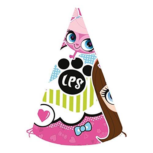 6Littlest Pet Shop Papier Party Hüte ()