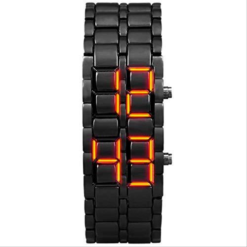CCWL Sportuhr Jugenduhr wasserdichte elektronische Uhr Digitaluhr für Männer zweistellige Legierung Armbanduhr weibliche Uhr schwarz rot