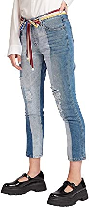 Iconic Women's 2091098 SS24RIPDENIM Woven Tapered Trousers,