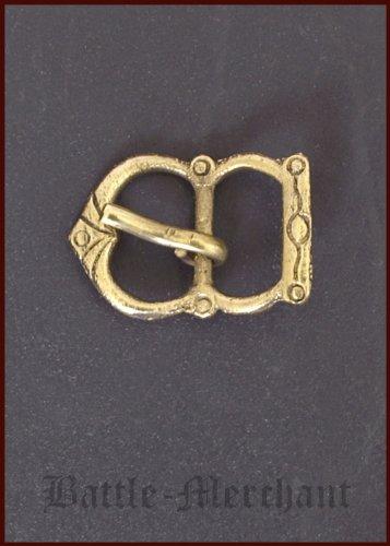 Spätmittelalter Schnalle aus Messing, Nr. 29 - Riemenbreite: bis ca. 21 mm