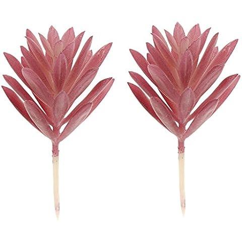 2pcs Artificiali Succulenti Fucsia Vegetali Decorativi Casa Di Plastica Bucaneve Fogliame