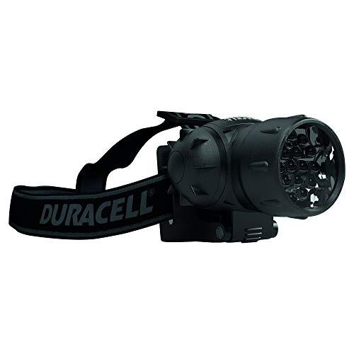 Duracell multifunktionale Stirnlampe mit 4 Lichtmodi und frei schwenkbar mit 19 LED`s inklusive Batteriesatz HDL-1