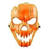 halloween maske kürbis gesichtsmaske unheimlich schädel maske kunststoff cosplay teufel maskerade maske für karneval festival ball party - orange