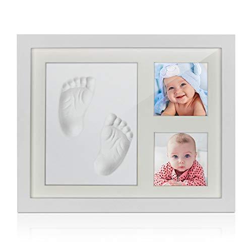 Baby Handabdruck Fußabdruck Bilderrahmen Set mit Gipsabdruck,Jooheli Hand und Fuß Gipsabdruck Set Abdruckset Fussabdruck,Geschenk Geburt Neugeborene Andenken