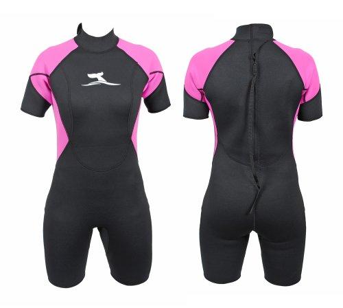 Damen 2 mm Neopren Shorty Größe M / 38 Neoprenanzug Surfanzug Schwimmanzug