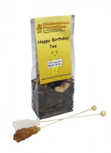 Happy Birthday Tee mit Kandiszucker Menge:100g