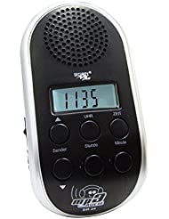 Point BR 24 - Radio para bicicleta (sintonizador PLL, conexión MP3), color plateado