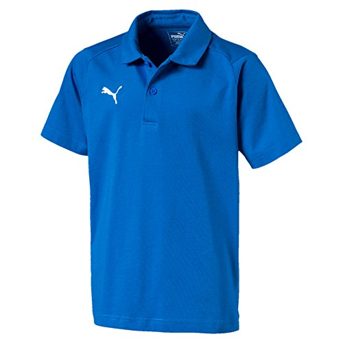 Puma Kinder Liga Casuals Polo Jr T-Shirt, Electric Blue Lemonade White, 152 (Electric Blue Kleidung)
