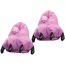 DSstyles Monster Claw Inicio Zapatos Zapatillas Novedad Zapatillas Hombre para Invierno Zapatillas Indoor Mujer con Animales Paw - Rosa sLmgJATo
