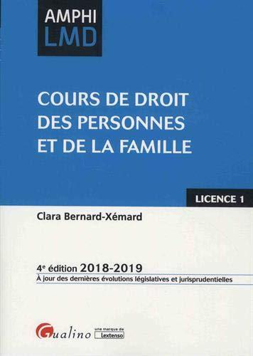 Cours de droit des personnes et de la famille