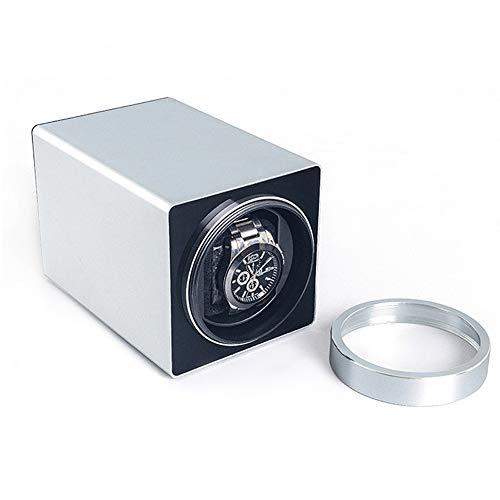 zyy Single Uhren Automatisch Uhrenbeweger Box - Kompakt Watch Winder Z.um Automatisch Uhren, Super Leiser Motor Leder Kissen (Color : C-Silver) -