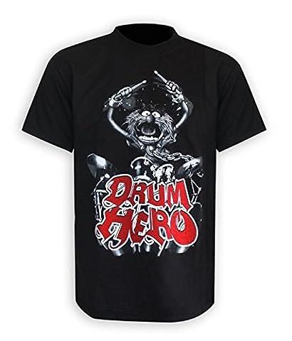 The Muppets T-Shirt Drum Hero Das Tier Animal in Größe S