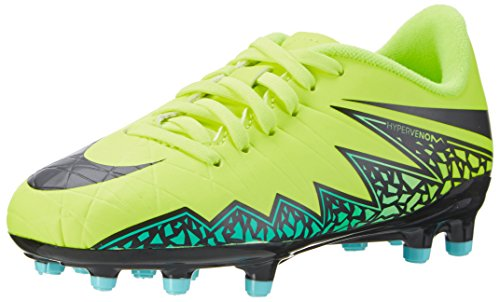 Nike Unisex Baby Jr Hypervenom Phelon Ii Fg Fußballschuhe Gelb Volt/HyperTürkis/Klares  Jade/Schwarz