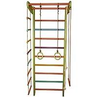 Dani LLC ¡Construcción robusta! Zona de juegos de madera para interior SportKids-2 Escalera sueca Complejo deportivo de gimnasia (Color, Altura: 225 cm)