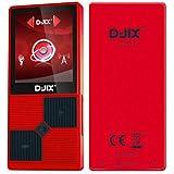 D-JIX M320BTFM Lecteur multimédia MP4 - 8 Go - Bluetooth - Podometre - Radio FM - Rouge