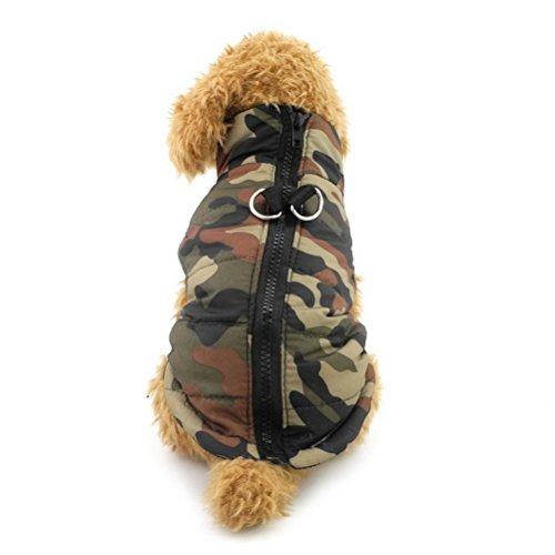 zunea Kleiner Hund Kleidung für weiblich männlich Winter gepolstertem Gurt Fell Weste