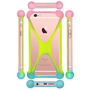 Casotec Universal Silicone Bumper Frame Soft Gel Phone Case Cover for Apple iPhone 6 / 6S - Multicolor