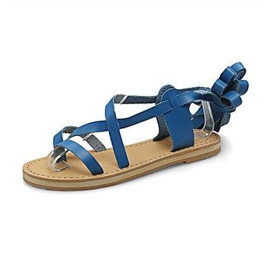 LvYuan Sandali-Ufficio e lavoro Formale Casual-Comoda Innovativo Club Shoes-Piatto-Finta pelle-Nero Blu Marrone Bianco Blue