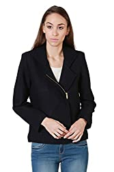 Allen Solly Womens Jacket (AWJK516C00565_Navy_Medium)