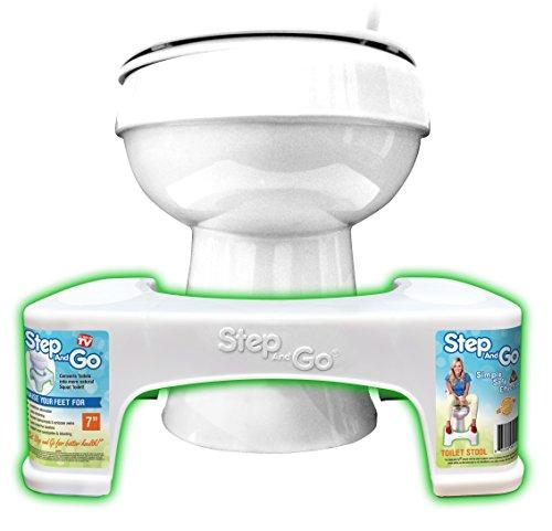 Step and Go Toilettenhocker, sorgt für die richtige Haltung beim Stuhlgang