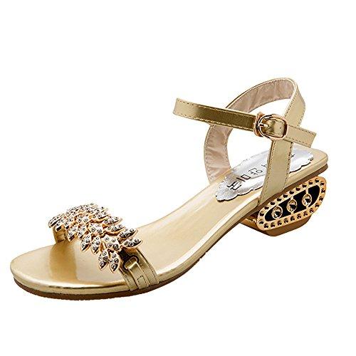 KonJin Women's Flat Sandals Summer Beach Walking Sandals Clip Toe Flip Flops Thongs Bohemian Ladies Slip On Open Toe T-Strap Braided Flats Elastic Slingback Casual Fashion Vacation Shoes Stiletto Gold-ton Strap