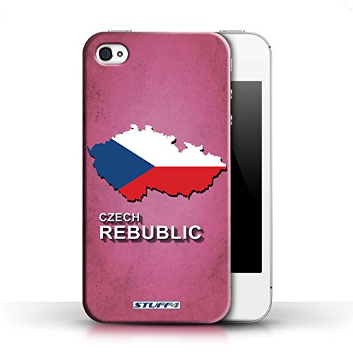 KOBALT® Hülle Case für Apple iPhone 4/4S | Argentinien Entwurf | Flagge Land Kollektion Tschechische