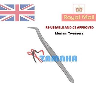 Zamaha-UK CE Meriam College Daumenpinzette, gezahnt, chirurgisch, Mehrzweck-Pinzette, 16 cm, Baumwolle, chirurgische Dental-Pinzette