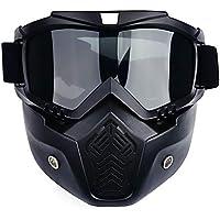 HYZ Herren Ski- / Snowboardmaske Winter-Ski- und Schneemobilbrille Winddicht Skibrille mit Mundfilter