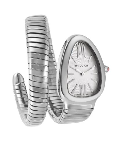 Bvlgari Serpenti Ladies Reloj Plata sp35 C6ss. 1T